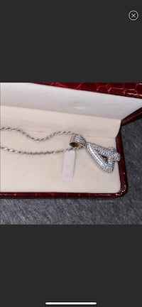 "Silver ""4"" Diamond Chain"