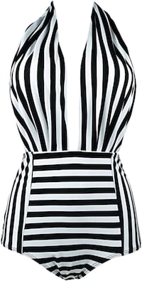 NWT Cocoship Retro One Piece Backless Swimsuit Montreal, H3T 1E2
