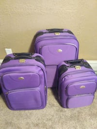 two purple soft-side luggage Bedford Hills, 10507