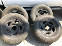 Black 16 rims 16x6 with tires 245/75/16 good condition Fremont, 94538