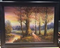 Oil painting mahogany frame large size Vaughan, L4H 0C8