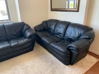 Priced to sell! 2 black leather couches! Arlington, 22204