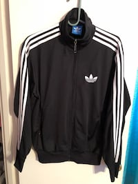 black and white Adidas track jacket