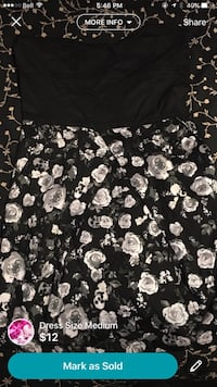 Black and white floral print dress with skulls Brampton, L6W 1M4