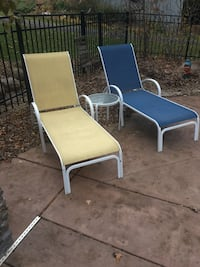 15 piece patio set.  Table, 12 chairs, 2 lounges. and umbrella. Champlin, 55316