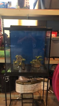 30 gallon fish tank  with light,filter ,and stand New Boston, 48164