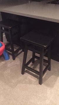 Two black wooden seat chairs West Vancouver, V7T 1T4