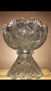 clear cut glass footed bowl Towson, 21286