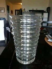 """Glass vase 11"""" tall, 7"""" wide at top Mississauga, L5A 3Y3"""