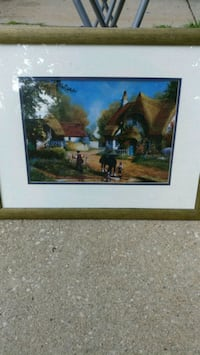 brown wooden framed painting of house Maryville, 62062