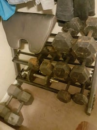 Weights and weight bench 37 mi
