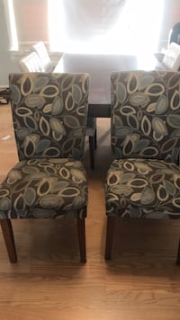 2 upholstered/ wood chairs Greenville, 02828