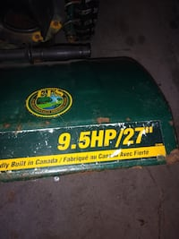 9.5 horse yard works snowblower in good working condition