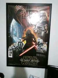 Star wars framed poster Boston, 02124