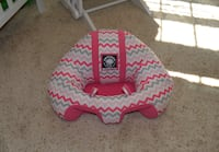 Hugaboo Chevron Infant Seat, Hot Pink/Grey/White Elkton