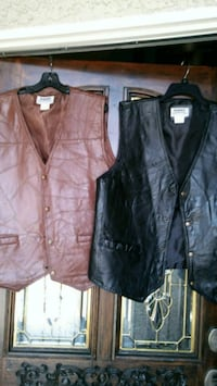 Two vests brown and black leather  Las Vegas, 89128