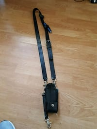 Leather radio strap and holster