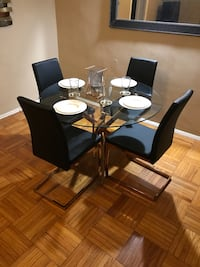 Luxury dining room table with 4 chairs