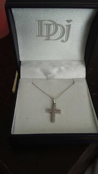 White Gold First Communion Cross Necklace Welland, L3B 1N2