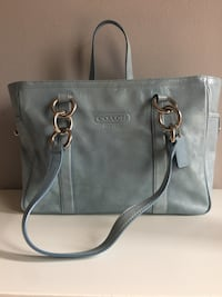 Light Blue Leather Coach Purse  Mississauga, L5N 2G7