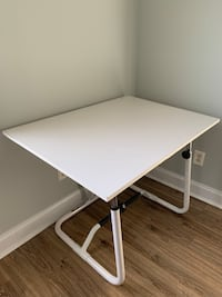 Large white drawing drafting table adjustable height and angle