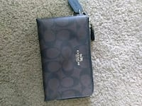 black monogrammed Coach leather wristlet Edmonton, T6L 5L4