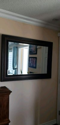 rectangular brown wooden framed mirror Toronto, M2R 3J8