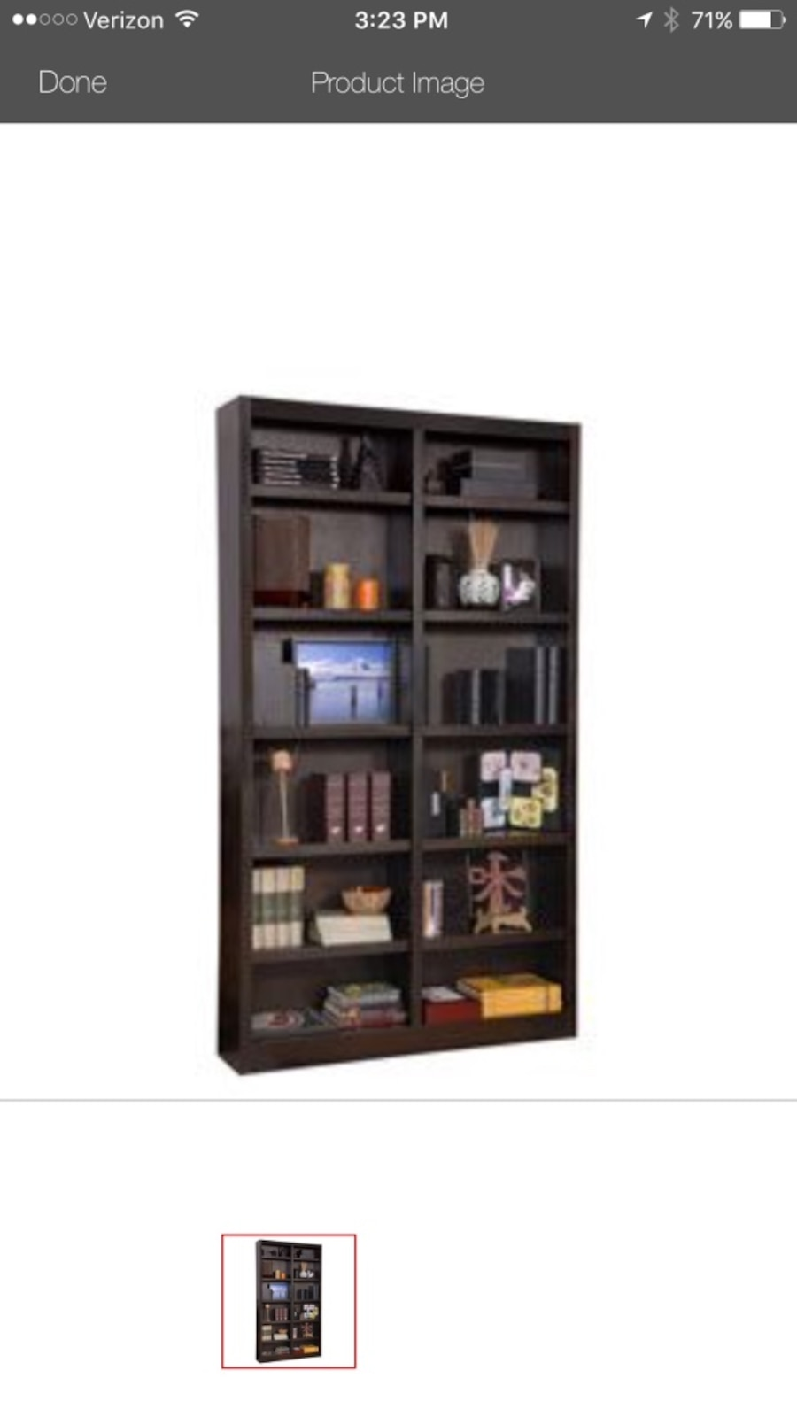 NEW Concepts in Wood Double Wide Bookcase in Expresso -$250