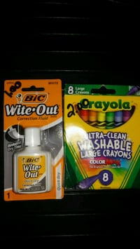 White out & Washable crayons Roxana, 62084