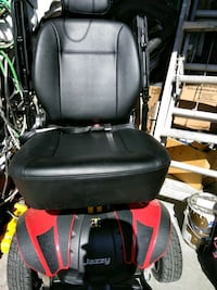 black and red motorized wheelchair Aurora, 80011