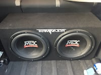 Black mtx audio subwoofer speaker and amp  Toronto, M3K 1L6