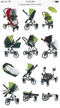 Baby's assorted strollers