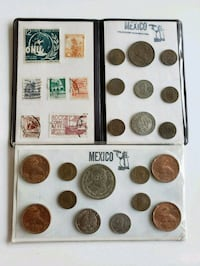 Lot of Vintage Mexican Coin Sets w/ 1 Silver coin Calgary, T2R 0S8