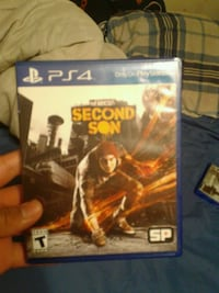 Sony PS4 inFamous Second Son game case Denver, 80221