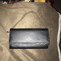 black leather Michael Kors wristlet 21 km