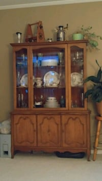 brown wooden framed glass display cabinet White Rock, V4B 2J9