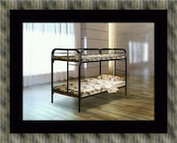 Twin bunk bed frame with mattress Alexandria