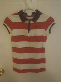 red and white stripe polo shirt Saint Marys, N4X 1E9