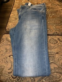 Used blue jeans