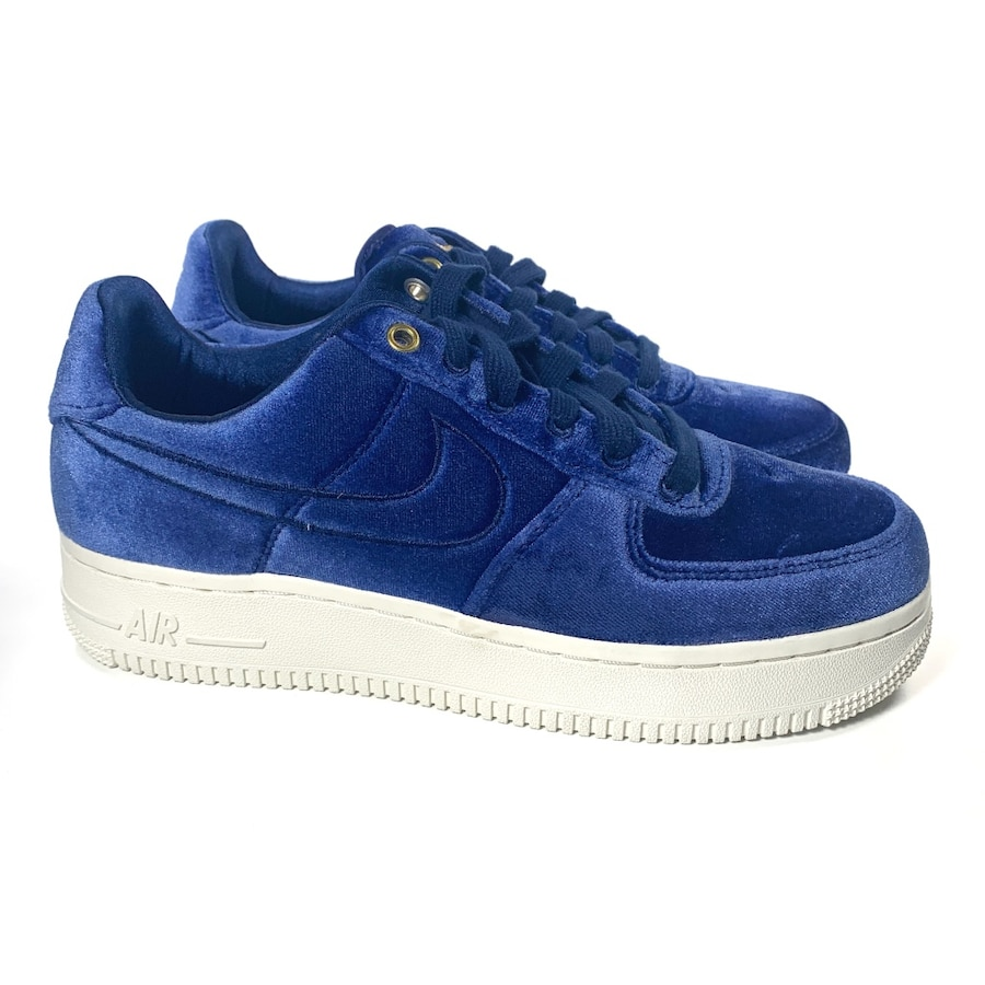 "Photo Nike Mens Air Force 1 Low '07 PRM ""Blue Velour"" size 4 or 5.5 Womens"