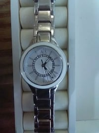 round silver analog watch with link bracelet Calgary, T2H 0G3