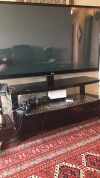 black flat screen TV; black TV stand Toronto, M1G