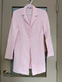 Pink long blazer size small