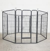 """New $110 Heavy Duty 48"""" Tall x 32"""" Wide x 8-Panel Pet Playpen Dog Crate Kennel Exercise Cage Fence South El Monte"""