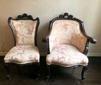 Pair of Victorian antique handmade parlor chairs Toronto, M2J 2C2