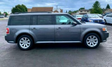 2009 Ford Flex》3RD ROW》DVD》LEATHER SEATS》