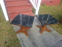 two brown wooden side tables Savannah, 31405