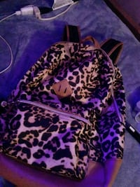 black and white leopard print backpack Bessemer City, 28016