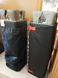 two gray-and-black folding travel cots Davenport, 33896