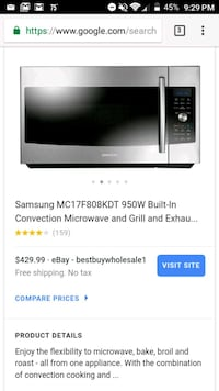 Samsung Microwave/Grill/Oven All-n-One Perry, 31069